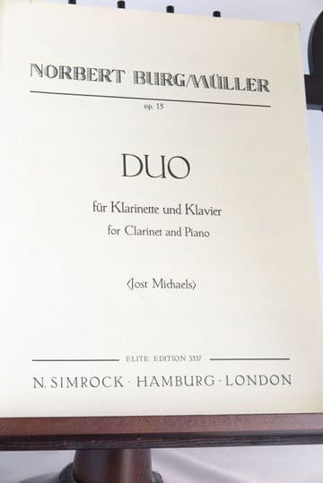 Burgmuller N - Duo Op 15 for Clarinet & Piano